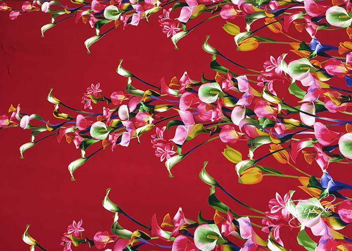 Красный Трикотаж Каллы
