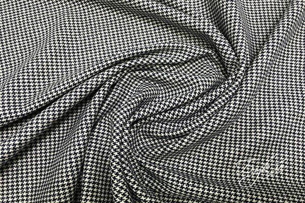 Черно-белая Шерстяная Ткань