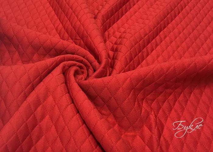 Красный Стеганый Трикотаж