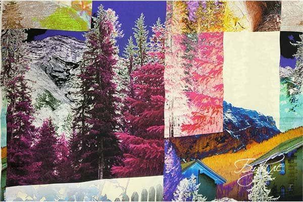 Ткань Креп с Деревьями