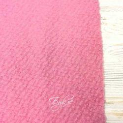 Шерсть Букле Розовая