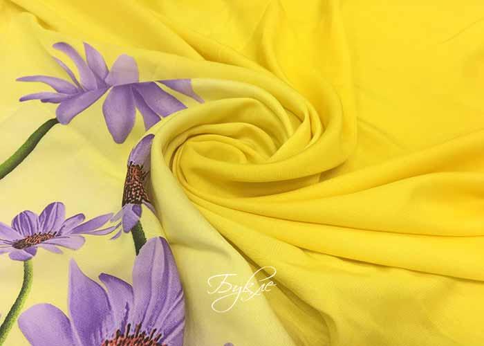 Штапель Цветы на Желтом