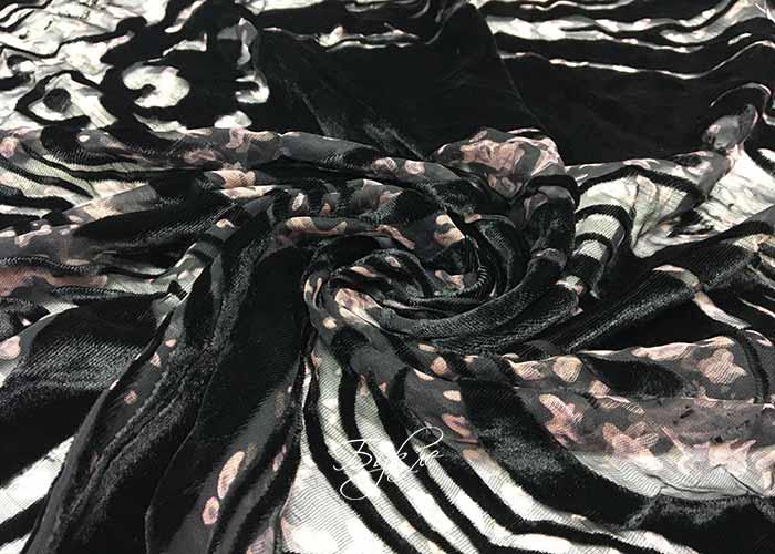 Шелк панбархат черный фото
