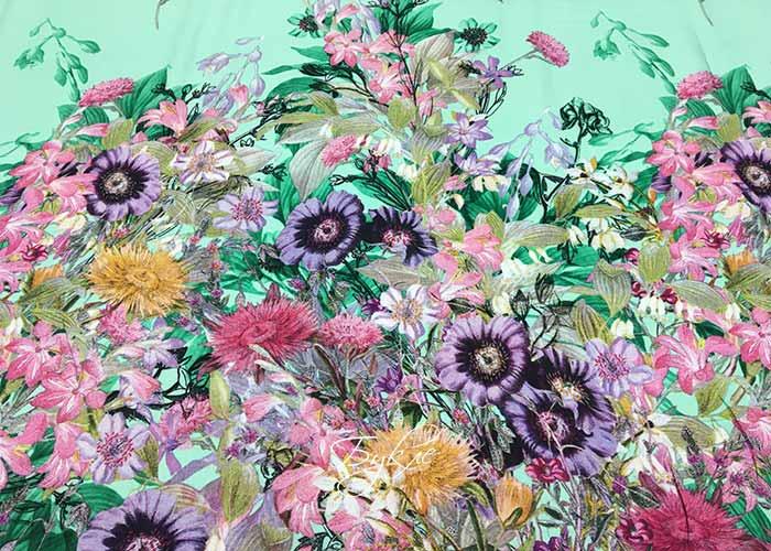 Штапель Цветы на Мятном