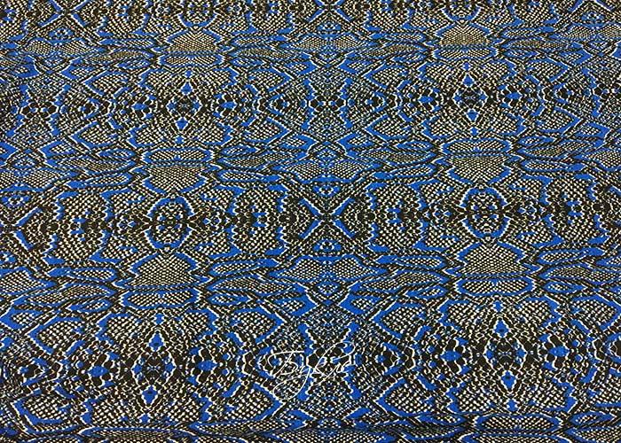 Трикотаж Вискоза Синяя Рептилия фото