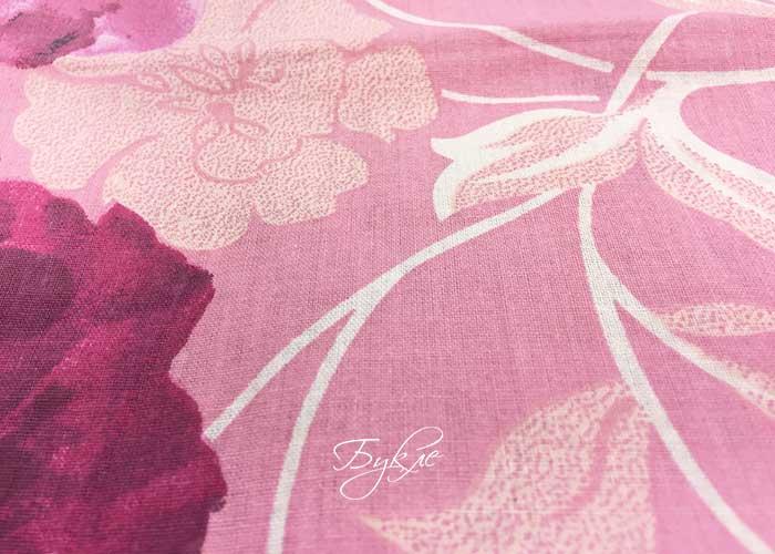 Бязь Розовая с Цветами фото