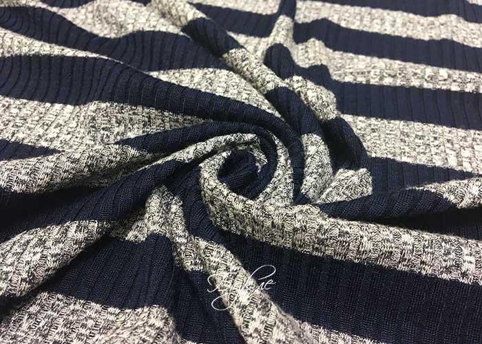 Трикотаж-Резинка Синяя Полоска фото