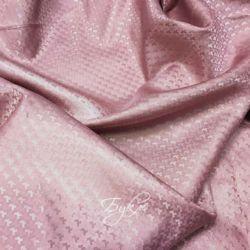 Подкладка Жаккард Гусиная Лапка Розовая