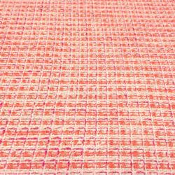 Ткань Шанель Коралловая с Люрексом