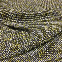 Ткань Шанель Лимонно-Черная