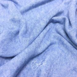 Трикотаж Вязаный Голубой