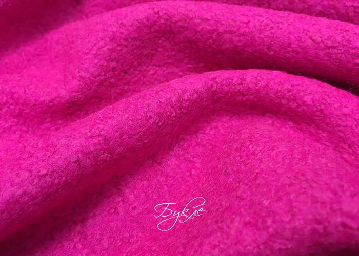 Шерсть Варенная Букле Розовая фото
