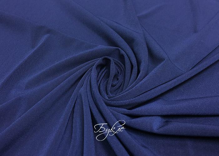 Трикотаж Масло Темно-Синий фото
