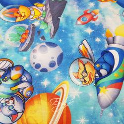 Хлопок Бязь Детская Астронавты фото