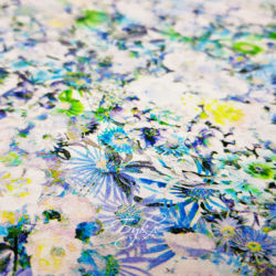 Хлопок Сатин Синие Цветы Германия фото