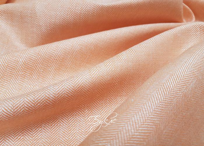 Лен с Шелком Оранжевая Елка Италия фото