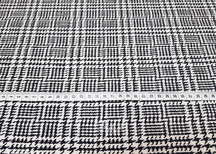 Хлопок Костюмный Черно-Белые Квадраты фото