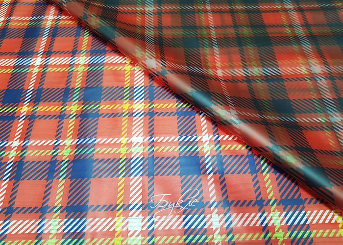 Плащевка Матовая Красная Клетка Германия фото