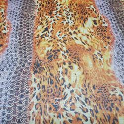 Шелк Шифон Огненный Леопард фото