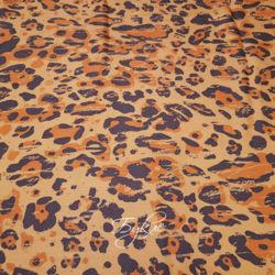 Вискоза Штапель Леопард Италия фото