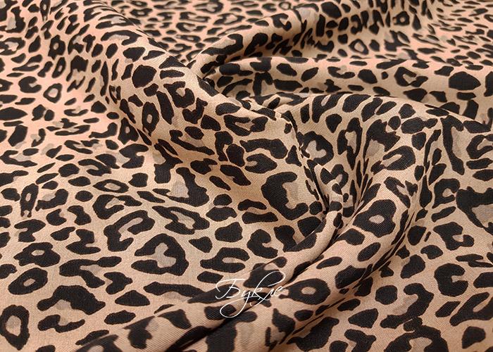 Вискоза Штапель Мелкий Леопард Италия фото