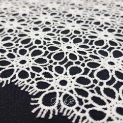 Кружево Широкое Белое Ромашки 220мм фото