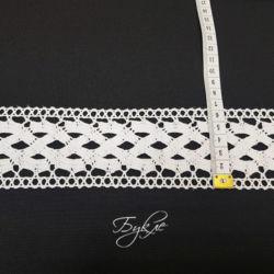 Хлопок Кружево Вязаное Белое 60мм фото