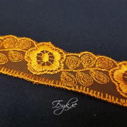 Кружево Золотые Ромашки 30мм фото