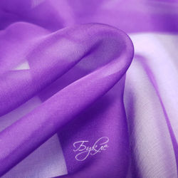 Шелк Шифон Фиолетовый фото