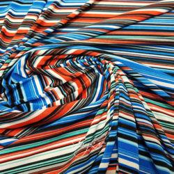 Трикотаж Сине-Бело-Оранжевый фото