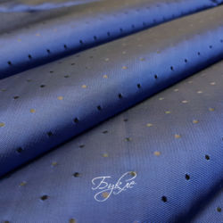 подкладка Жаккард Синяя в Горох фото