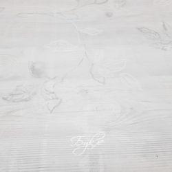 Тюль Вуаль Белая с Веточками фото