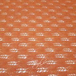 Трикотаж Ажурный Вязаный Оранжевый фото