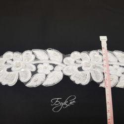 Кружево Белое Цветы 60мм