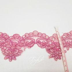 Кружево Светло-Розовое Пайетки 65мм