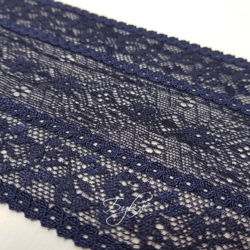 Кружево Темно-Синее 100мм