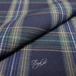 Шотландка Сине-Зеленая Стрейч