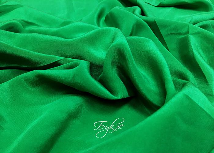 Шелк Креп Зеленый Италия
