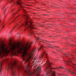 Мех Искусственный Красный с Черным