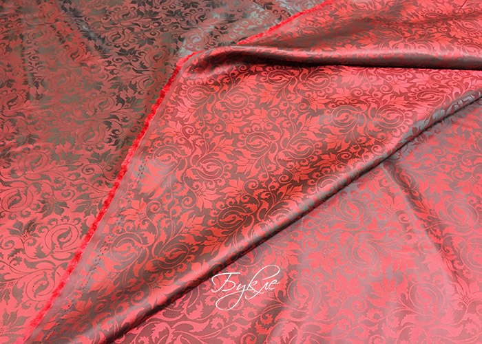 Подкладка Жаккард Темно-Красная