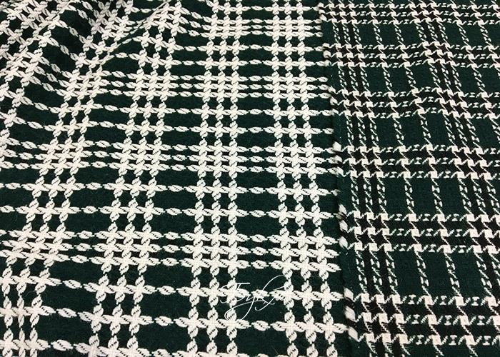 Шерсть Темно-Зеленая с Белым