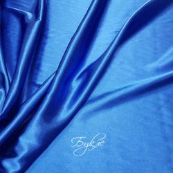 Атлас Плательный Синий