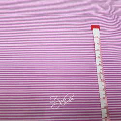 Вискоза Штапель Розовая Полоска