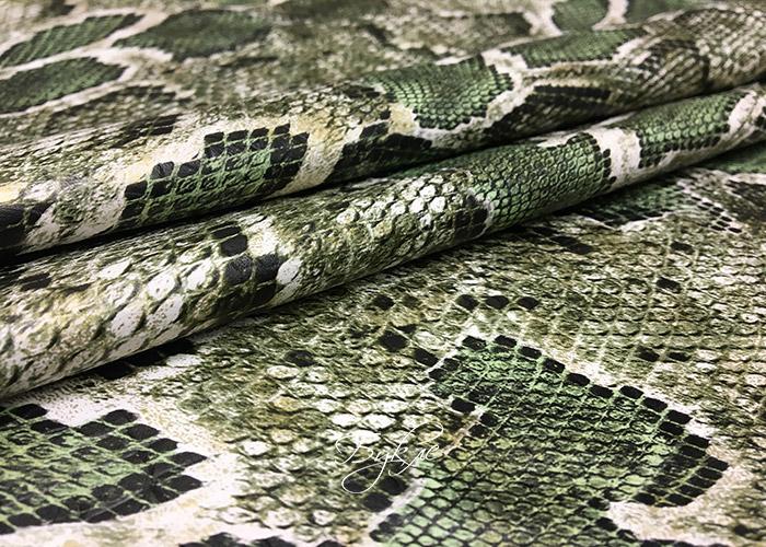 Кожа Искусственная Рептилия Зеленая Италия