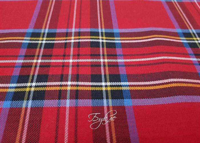 Шотландка (Тартан) Красная с Голубым