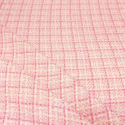 Шанель Шерсть Розовая Клетка