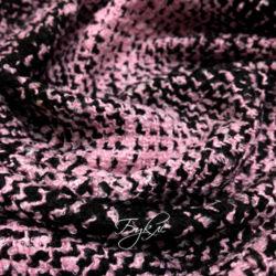 Шанель Черно-Розовая Клетка