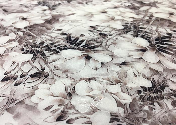Вискоза Плательная Цветы Какао Германия