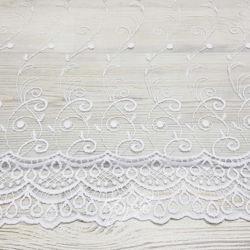 Органза Вышивка Белая