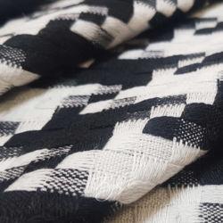 Вискоза Костюмная Черно-Белая Плетенка